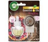 Air Wick Essential Oils Merry Berry - Vôňa zimného ovocia elektrický osviežovač vzduchu komplet 19 ml
