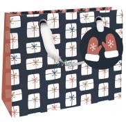 Nekupto Dárková papírová taška luxusní malá 18 x 16 cm Vánoční WLIS 1785