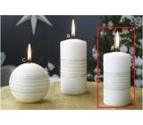 Lima Exclusive sviečka zlatá valec 50 x 100 mm 1 kus