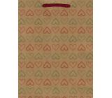 Nekupto Darčeková papierová taška 24,5 x 19 x 8 cm Srdce 565 KHM