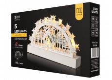 Emos Dekorácie betlehem 23 x 14 cm, 5 LED, teplá biela + časovač