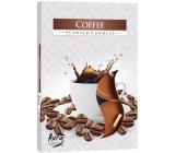 BISPOL Aura Coffee - Káva vonné čajové sviečky 6 kusov