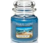 Yankee Candle Turquoise Sky - Tyrkysové nebe vonná svíčka Classic střední sklo 411 g