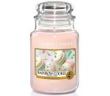Yankee Candle Rainbow Cookie - Duhové makronky vonná svíčka Classic velká sklo 623 g