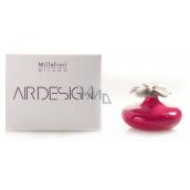 Millefiori Air Design Difuzér květina nádobka pro vzlínání vůně pomocí porézní vrchní části malá červená