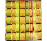 Ditipo Stuha látková s drôtikom žltá s kvetmi 2 mx 40 mm