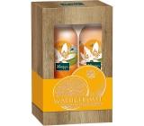 Kneipp Ranná bozk s pomarančovým kvetom a jojobovým olejom sprchová pena pre ženy 200 ml + penové telové mlieko 200 ml, kozmetická sada
