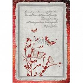 Ditipo Denník Antique motýle A5 15 x 21 cm