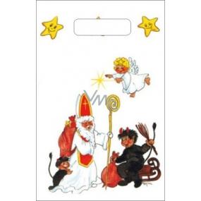 Anjel Igelitová taška 32 x 20 x 8 cm malá Mikuláš, čert, anjel