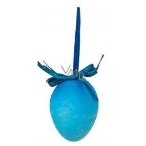 Vajíčko striekané modrej na zavesenie 6 cm, 1 kus