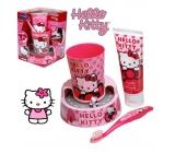 Hello Kitty zubní pasta + zubní kartáček + časovač 2.min.- doba čištění zoubků, dárková sada expirace 6/2016