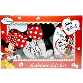Disney Miss Minnie 2v1 šampón a sprchový gél 300 ml + umývacie Zina v tvare Minnie, kozmetická sada