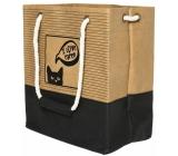 Albi Eko taška vyrobená z pratelného papiera s uchom - mačka 30 cm x 34 cm x 18 cm
