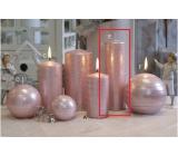 Lima Galaxy sviečka ružová valec 50 x 170 mm 1 kus