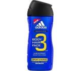 Adidas Sport Energy 3v1 sprchový gel na tělo, vlasy a tvářpro muže 400 ml