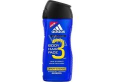 Adidas Sport Energy 3v1 sprchový gél na telo, vlasy a tvářpro muža 400 ml