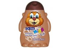 On Line Kids Čokoláda 2v1 sprchový gel a šampon na vlasy pro děti 250 ml