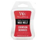 Woodwick Crimson Berries - Jarabiny s korením vonný vosk do aromalampy 22.7 g