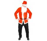 Kostým Santa Claus - bunda, čiapky, fúzy