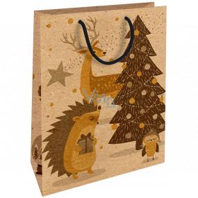 Nekupto Darčeková Kraftová taška 28 x 37 cm Vianočný ježko 604 WKHL