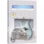 BISPOL Aura Marine Stories - Morské príbehy vonné čajové sviečky 6 kusov
