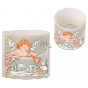 Candles Anjel s trumpetu lampión Valec svietnik na čajovú sviečku 100 x 95 mm