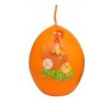 Zvířátka Slepičky velikonoční svíčka oranžová vajíčko 54 g