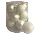 Banky sklenené biele sada 5,7 cm, 12 kusov