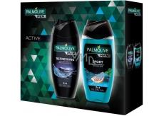 Palmolive Men Refreshing 3v1 sprchový gél na telo, tvár a vlasy pre mužov 250 ml + Men Sport 3v1 sprchový gél na telo, tvár a vlasy pre mužov 250 ml, kozmetická sada