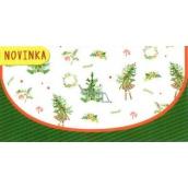Nekupto Priania obálka na peniaze vianočné stromčeky 116 x 220 mm