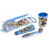 Paw Patrol Kefka na zuby + zubná pasta + kelímok + kozmetická taštička pre deti darčeková sada