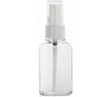 Fľaštička priehľadná plastová s dávkovačom 50 ml
