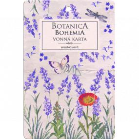 Bohemia Gifts Botanica Aromatická vonná karta Levanduľa 10,5 x 16 cm