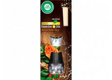 Air Wick Reed Diffuser Essential Oils Warm Amber Rose - Vôňa jantárové ruže vonné tyčinky osviežovač vzduchu 30 ml