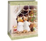 Ditipo Darčeková Kraftová taška 2 x 10 x 29 cm kľačiaci deti pri okne