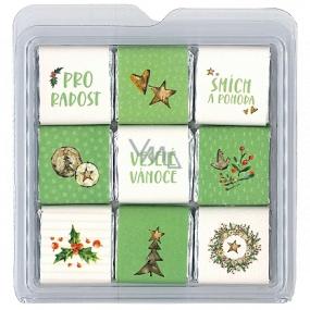 Nekupto Čokoládové puzzle vianočné Stromček 11 x 11,5 x 0,7 cm, 9 x 5 g