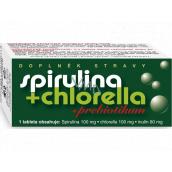 Naturvita Spirulina + Chlorella + Prebiotikum doplnok stravy napomáha posilnenie a prečistenie organizmu, chráni organizmus pred pôsobením voľných radikálov 90 tabliet