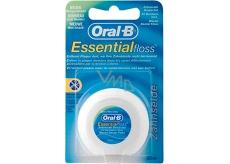 Oral-B Essential Floss voskovaná dentálna niť 50 m 1 kus