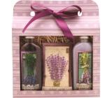 Bohemia Herbs Lavender sprchový gel 100 ml + olejová lázeň 100 ml + vonný sáček, kosmetická sada
