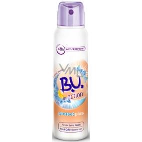 B.U. In Action Protect Plus antiperspirant deodorant sprej pro ženy 150 ml
