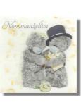 Me to You Blahoželania do obálky 3D K svadbe Svadobné medvede na bielom vrecko 15,5 x 15,5 cm