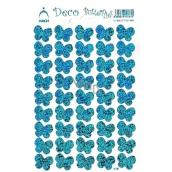 Arch Holografické dekoračné samolepky motýle modré