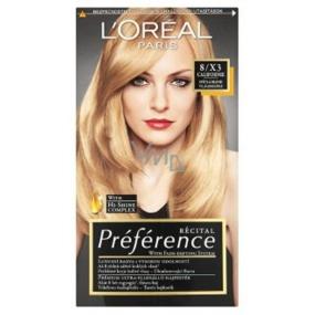 Loreal Paris Préférence recitál farba na vlasy 8 / X3 Californie svetlá blond