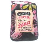 Albi Skladacia taška na zips do kabelky s menom Monika 42 x 41 x 11 cm