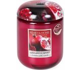 Heart & Home Granátové jablko Sójová vonná sviečka veľká horí až 70 hodín 340 g