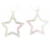 Hviezda plastová závesná 6 cm 2 kusy