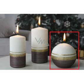Lima Aróma línia sviečka karmínová guľa 80 mm 1 kus