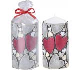 Emóciám Srdce a srdiečka sviečka valec 60 x 110 mm 1 kus