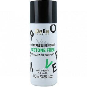 Delia Cosmetics Acetone Free bezacetónový odlakovač na nechty 100 ml