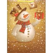 Nekupto Darčeková papierová taška veľká 32,5 x 26 x 13 cm Vianočný 1244 01 WBL
